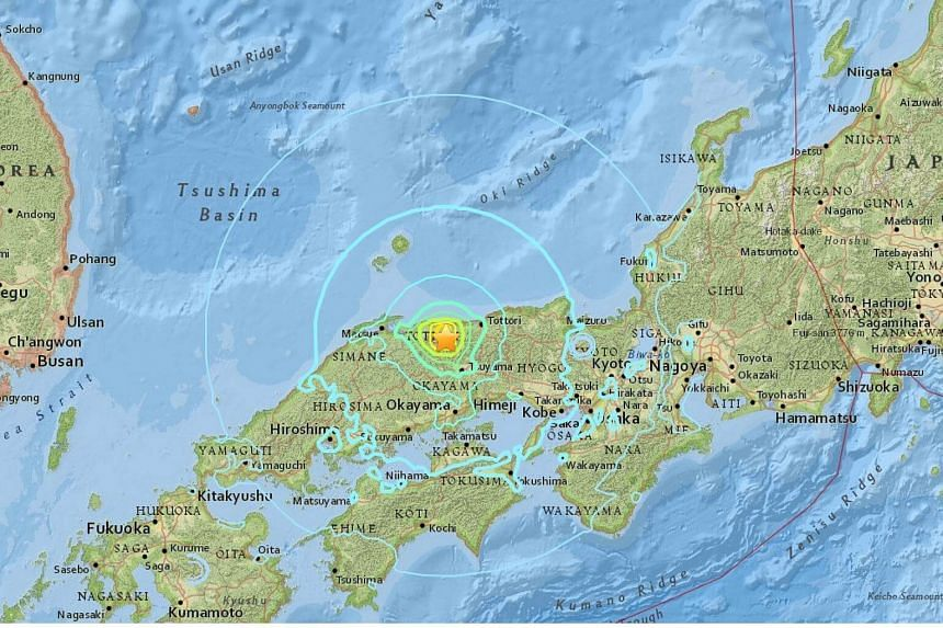A strong 6.2-magnitude earthquake hit western Japan on Friday.