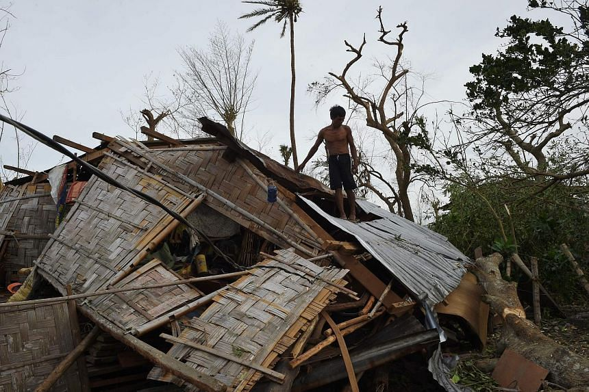 A house destroyed by the typhoon in Isabela province, north of Manila.