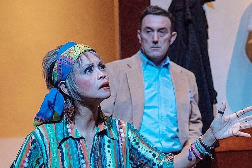 Deathtrap played by Andrew Mowatt (right), with Bridget Fernandez.