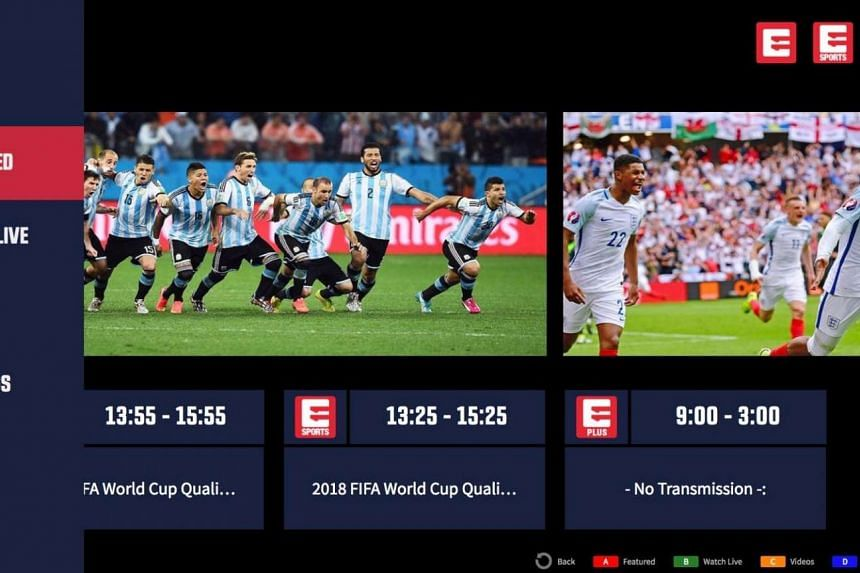 A screenshot of the Eleven Sports app on Samsung Smart TV.