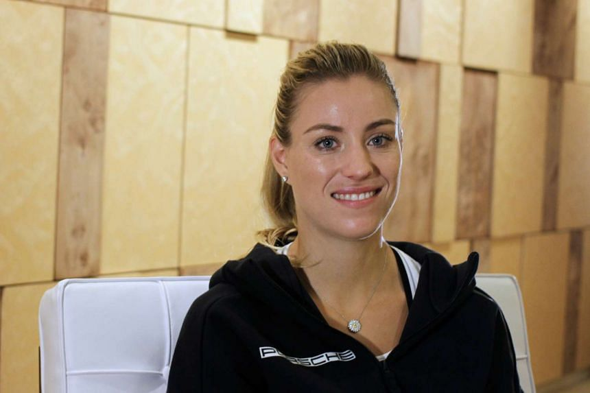 World number one tennis player Angelique Kerber of Germany poses during an interview in Singapore Oct 20, 2016.