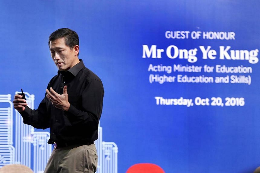 Acting Minister of Education Ong Ye Kung was the guest-of-honour at The Straits Times Future Economy Forum.