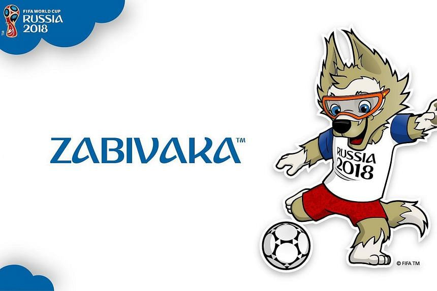 'Zabivaka', a wolf that was chosen by the Russian public as the mascot for the FIFA World Cup 2018.