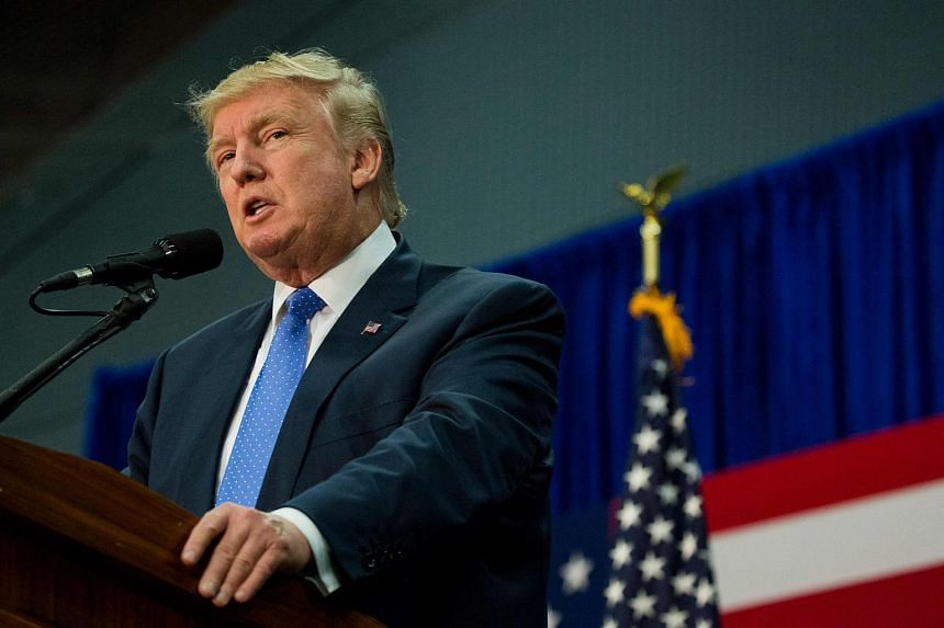 Republican presidential nominee Donald Trump speaks during a rally in Newtown, Pennsylvania on Oct 21, 2016.