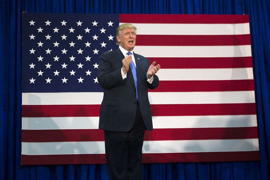 Donald Trump holds a campaign rally on Oct 21, 2016 in Newtown, Pennsylvania.