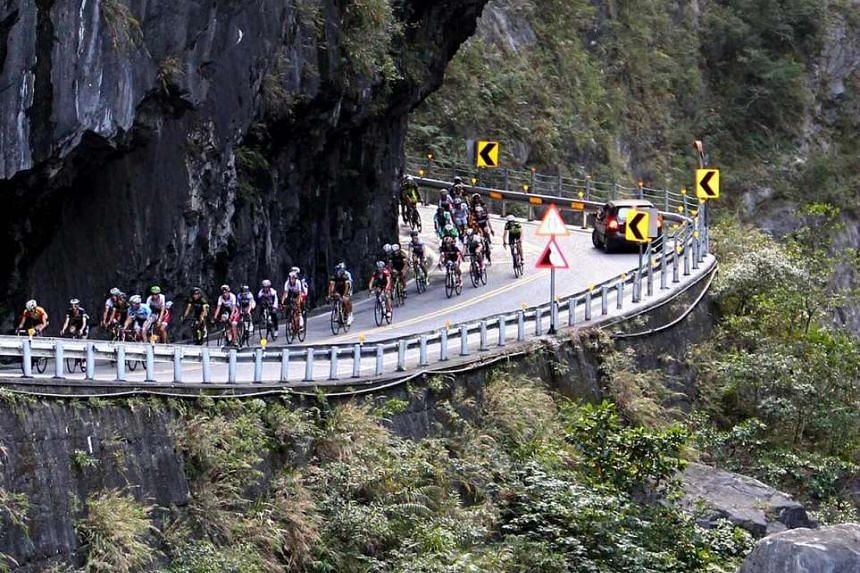 Participants in the annual Taiwan 105km race King of Mountain Challenge.