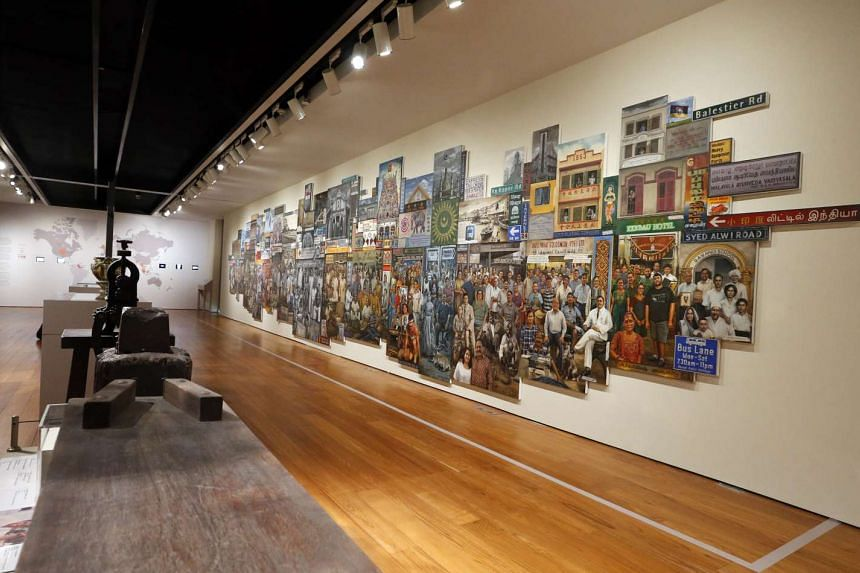 The Indian Heritage Centre's special exhibition features art such as this 14m-long collage juxtaposing pictures of more than 250 people associated with Little India against a backdrop of the precinct.