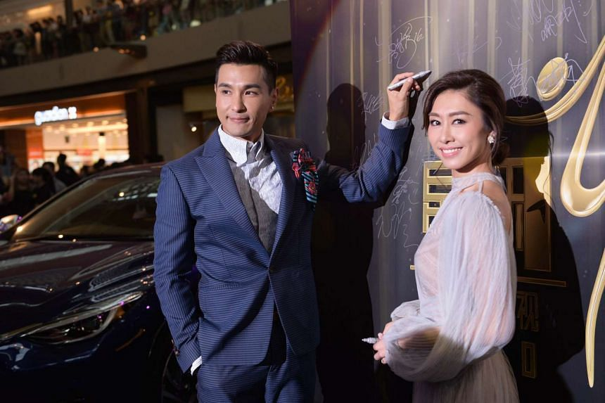 Ruco Chan and Nancy Wu at the red carpet of the Starhub TVB Awards 2016 on Oct 22, 2016.