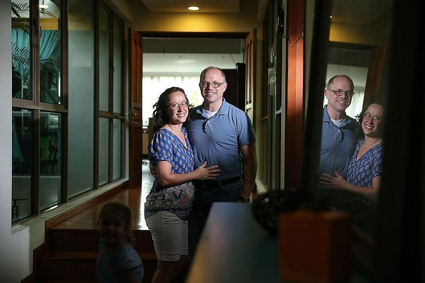 Woodgrove estate residents Sarah and Darren Lifferth voted for third-party candidate Evan McMullin after months of deliberation. The couple sent in their ballots last week. Members and guests at The American Club watching the final United States pres