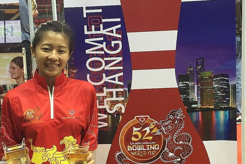 Bernice Lim (above) was beaten 227-204 by Jenny Wegner in the stepladder semi-finals and finished third at the QubicaAMF Bowling World Cup.