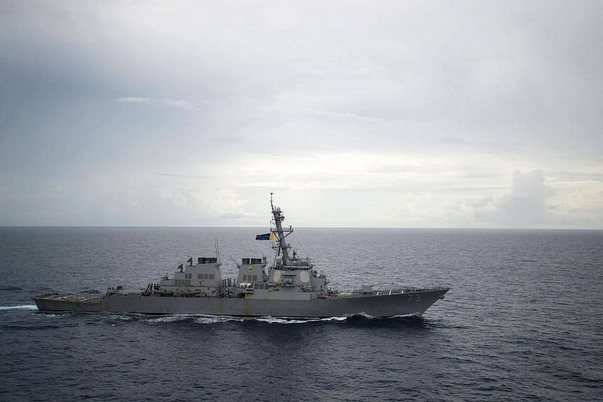 The Guided-missile destroyer USS Decatur (DDG 73) as it operates in the South China Sea as part of the Bonhomme Richard Expeditionary Strike Group (ESG) on Oct 13, 2016.