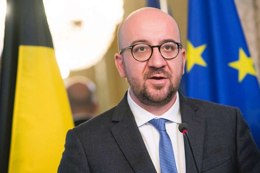 Belgium's Prime Minister Charles Michel speaks during a press conference on Oct 24, 2016.
