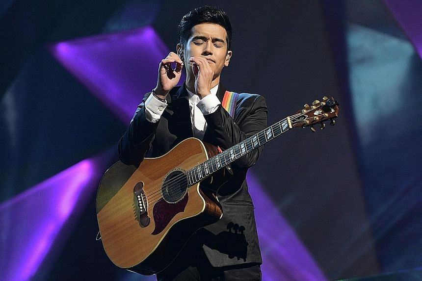 Singapore singer Nathan Hartono (above) performed for the 1,500-strong crowd.