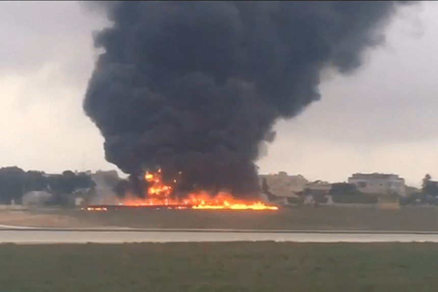 A light aircraft crashed shortly after take-off from Malta on Oct 24, 2016.