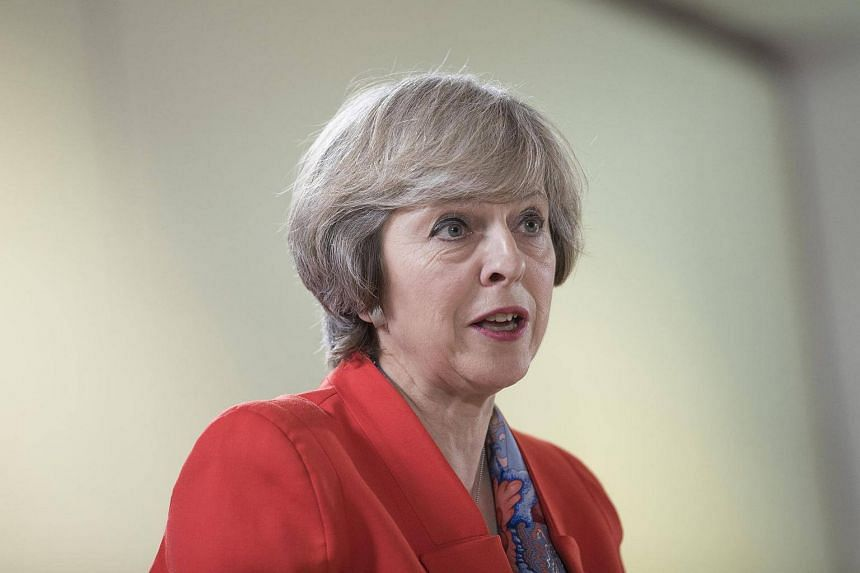British Prime Minister Theresa May speaks during a news conference at a meeting of EU leaders in Brussels, Belgium.