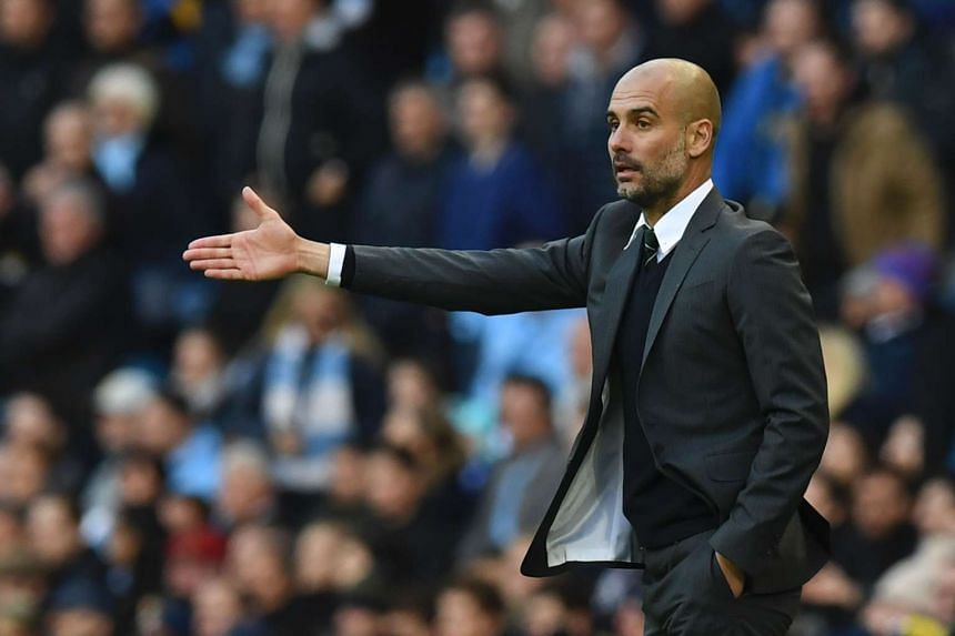 Manchester City manager Pep Guardiola gestures on the touchline during the EPL match against Southampton, on Oct 23, 2016.