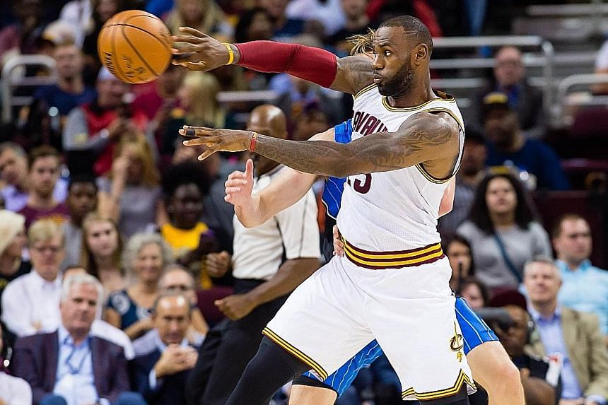 LeBron James in action for the Cleveland Cavaliers against the Orlando Magic in a pre-season game earlier this month.