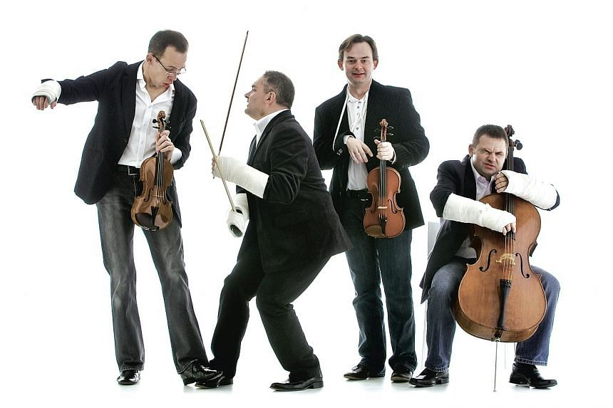The MozART Group, comprising (from far left) Michal Sikorski, Pawel Kowaluk, Filip Jaslar and Bolek Blaszczyk, injects humour into its performance.