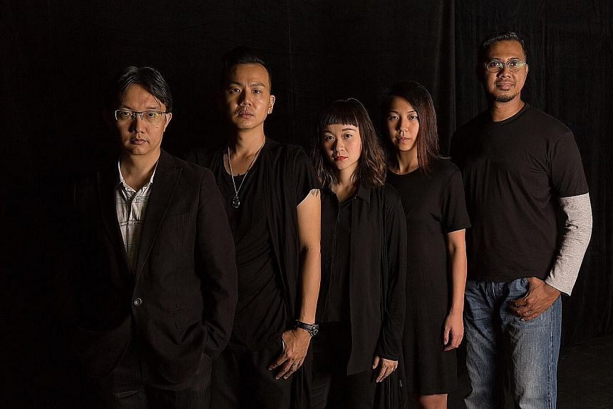 From left: Poet Tan Chee Lay, Sa's Andy Chia, Natalie Tse and Cheryl Ong, and writer Hassan Hasaa'Ree Ali.