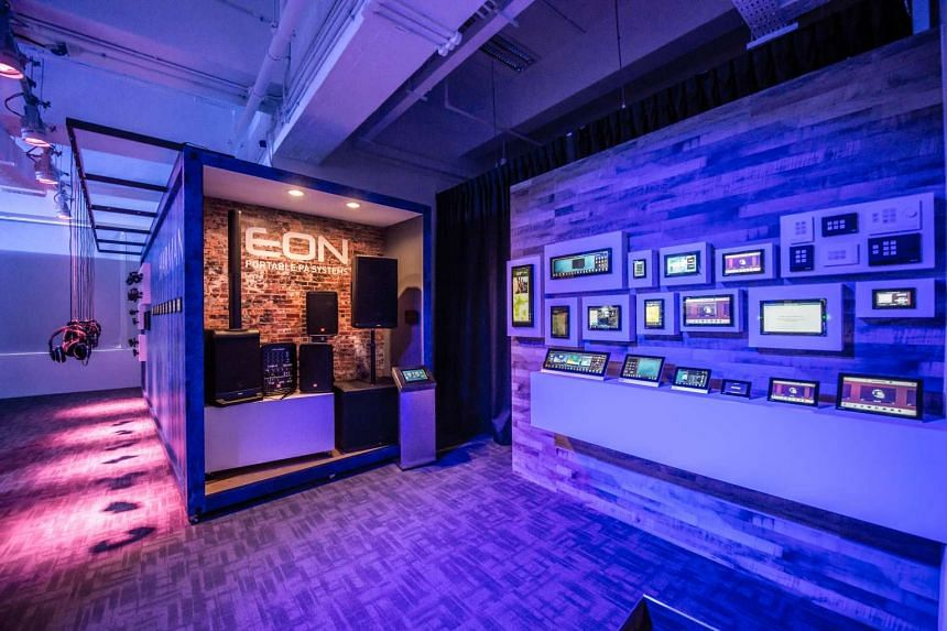 Harman's first Experience Centre in Singapore and Asia features their professional suite of products and solutions, such as studio monitors, speakers and lights for customers to test and experience.