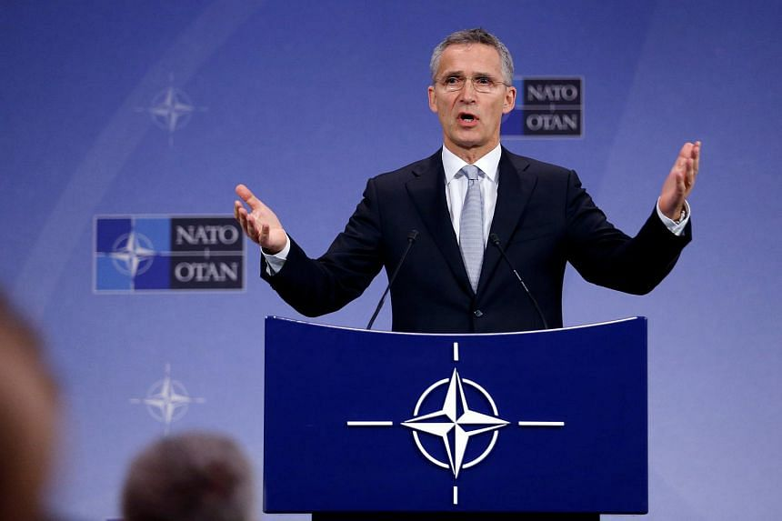 Nato Secretary-General Jens Stoltenberg speaks during a news conference at the Alliance headquarters in Brussels on Oct 25, 2016.