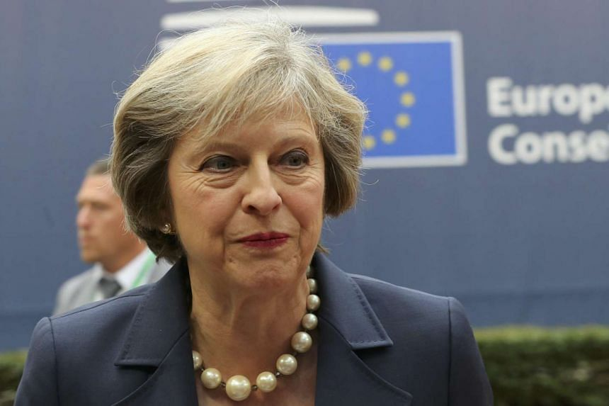 British Prime Minister Theresa May arrives at the EU summit in Brussels, Belgium, on Oct 20, 2016.