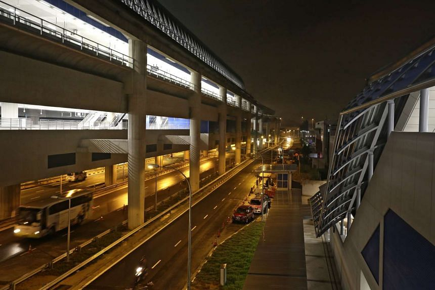 View of the Gul Circle MRT Station, part of the Tuas West extension.
