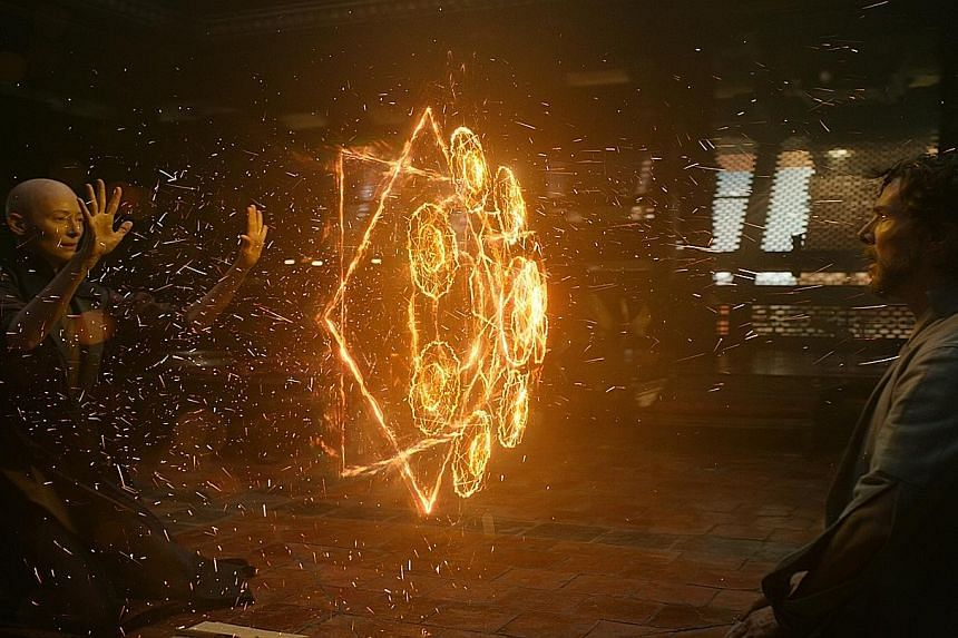 Director Scott Derrickson cast Tilda Swinton (above left) as The Ancient One in Marvel's Doctor Strange to avoid the stereotype of an old coloured person using ancient wisdom to help a white man find greatness.