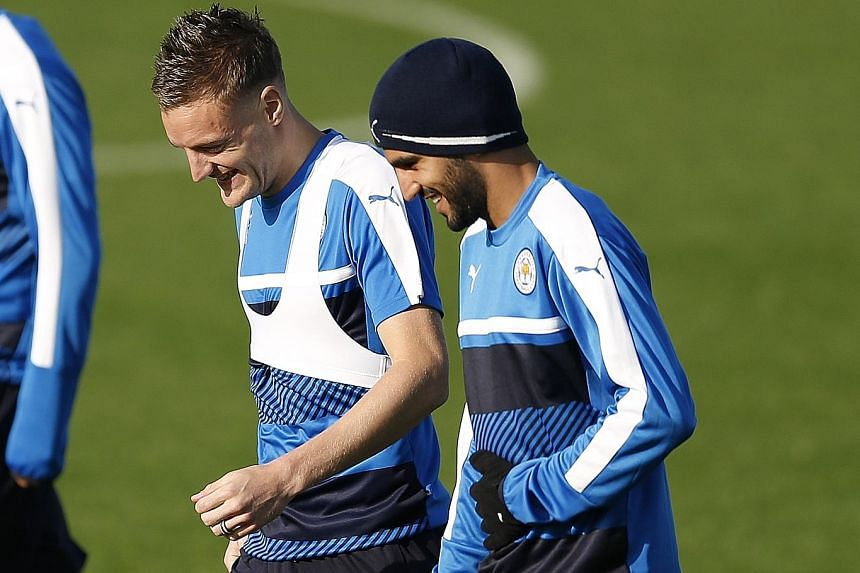 Leicester City duo Jamie Vardy (left) and Riyad Mahrez are in contention to win the title of the world's best footballer. Striker Vardy scored 24 league goals while midfielder Mahrez scored 17 goals and had 11 assists as the Foxes won their maiden En
