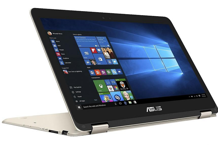 Besides the standard clamshell laptop and tablet modes, the Asus ZenBook Flip has two additional modes - stand and tent.
