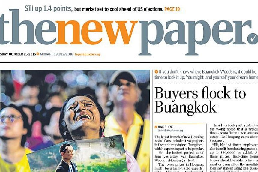 A mock-up of a revamped TNP, which will feature a a new design that is more elegant and compact, and include news on the economy, property market, jobs, personal finance and health in a format that is easily digestible.