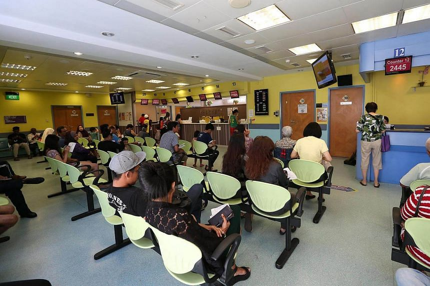 People waiting at Bedok Polyclinic. Starting next month, the Ministry of Health (MOH) will be talking to industry players to find out how laws governing the sector need to change.