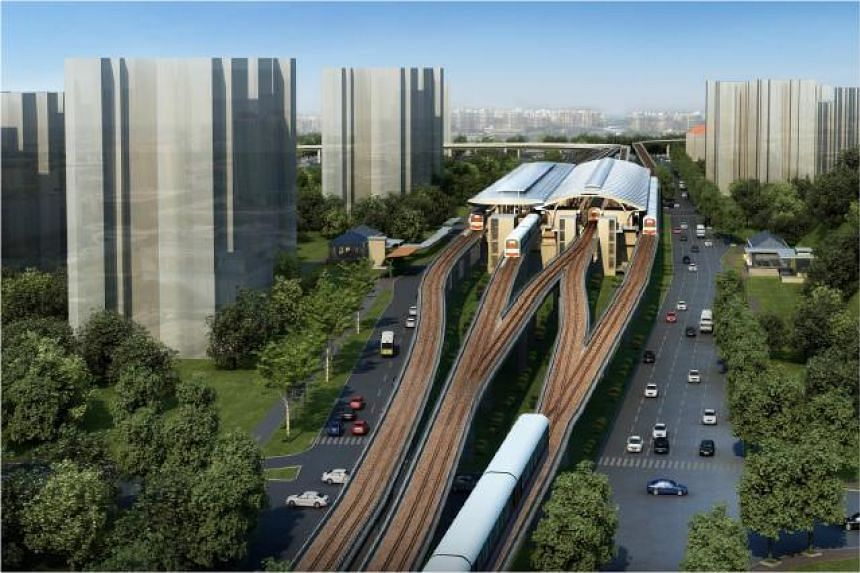 An artist's impression of Tanah Merah Station in 2024.