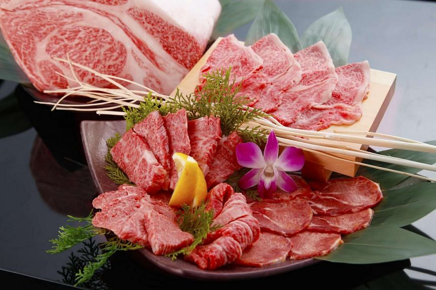 From the Japanese restaurant Magosaburou's ala carte menu, different cuts of meat are priced from $25-38 a plate (roughly 100g).