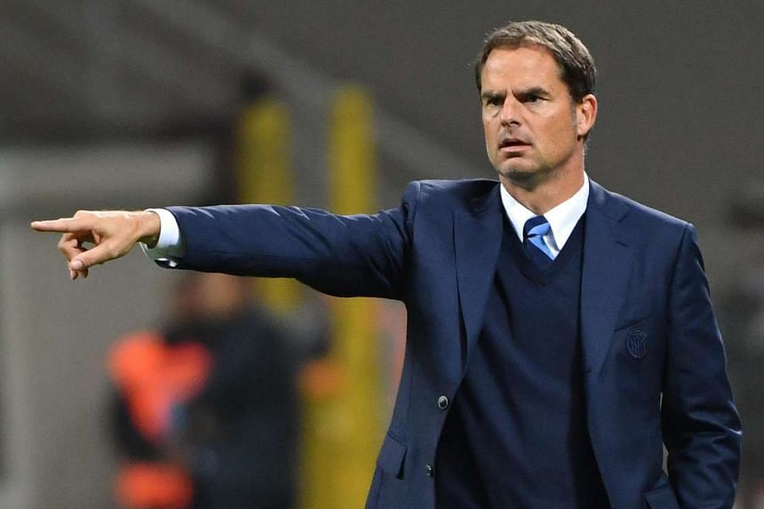 Inter's coach Frank de Boer gestures during the Italian Serie A soccer match between FC Inter and Torino FC at Giuseppe Meazza stadium in Milan on Oct 26, 2016.