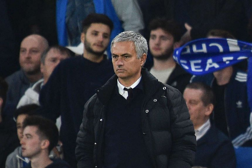 Manchester United manager Jose Mourinho during the English Premier League football match between Chelsea and Manchester United at Stamford Bridge in London on Oct 23, 2016.