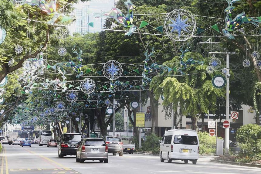 Christmas decorations in shades of blue will light up the stretch of Orchard Road from Tanglin Mall to Plaza Singapura from Nov 12 to Jan 2, 2017.