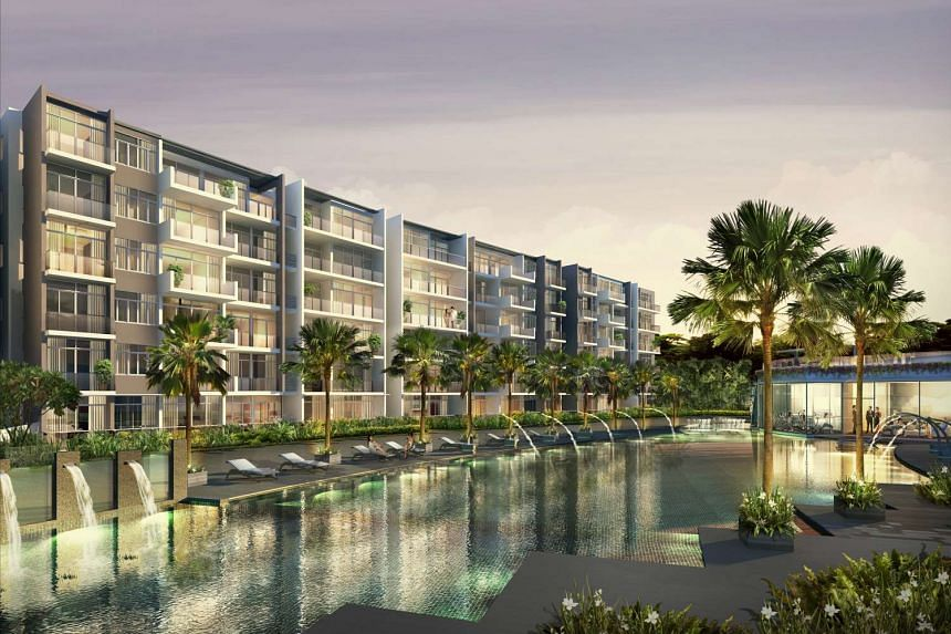 Artist's impression of Waterscape At Cavenagh, a 200-unit freehold condominium.