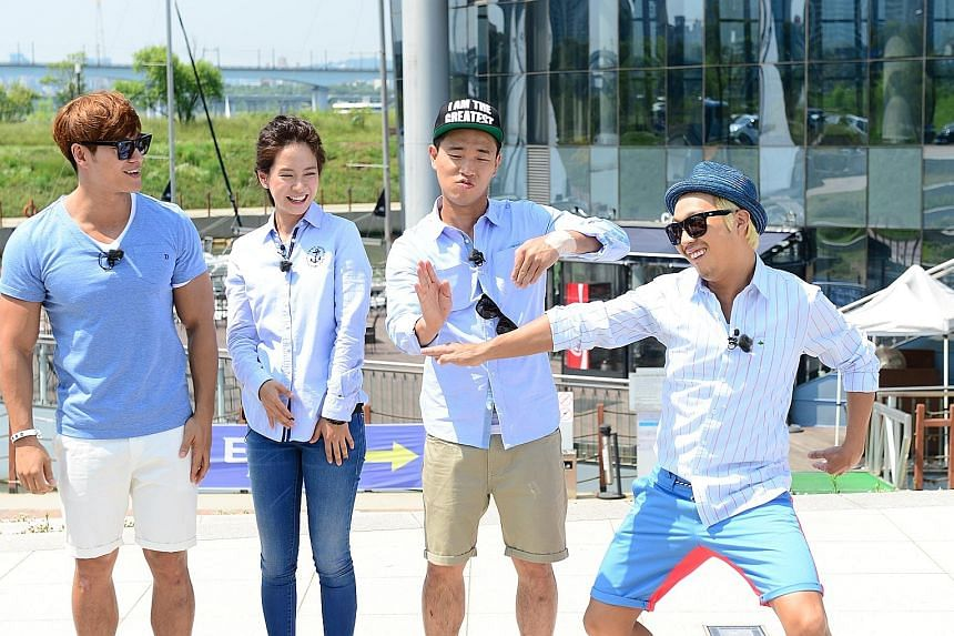Rapper Gary (third from left) will film the last episode of Running Man - which also includes co-hosts (from left) Kim Jong Kook, Song Ji Hyo and Haha - on Monday.