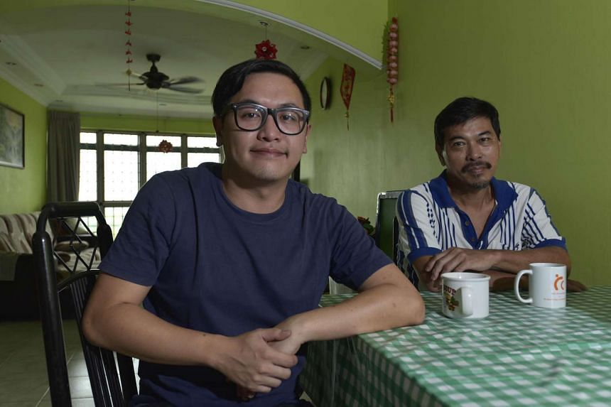 Mr Soh Chin Soon (right), 56, has been running Chicken Supremo Western Food for the past 25 years, which is known for its chicken chop. On the left is his son, Mr Soh Chun Wee, a traffic engineer.