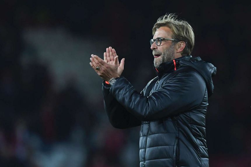 Liverpool manager Jurgen Klopp after the English Premier League football match between Liverpool and West Bromwich Albion at Anfield on Sept 10, 2016.