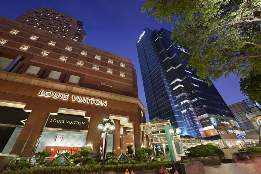 Charmaine Ng XT: Ngee Ann City (left) and Wisma Atria malls in Orchard Road.