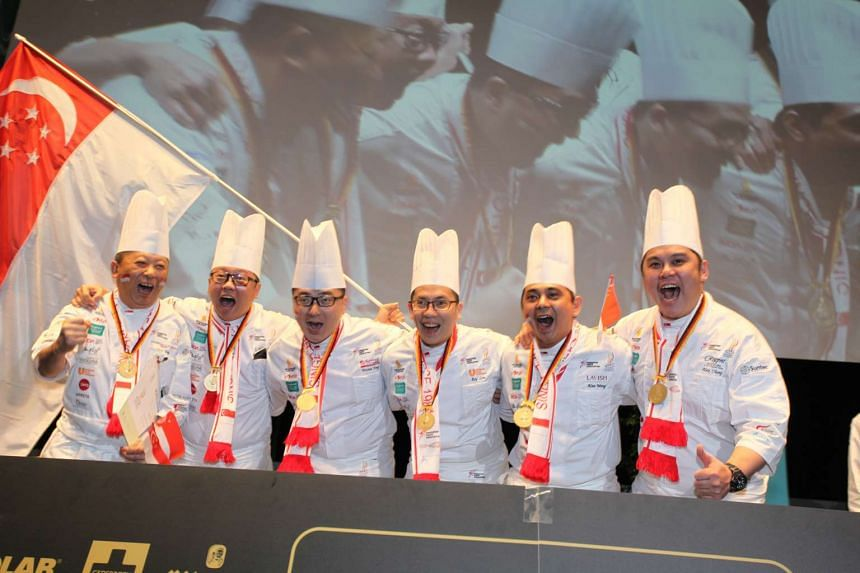 Singapore's national culinary team was the only Asian team to win two gold awards at the Culinary Olympics.