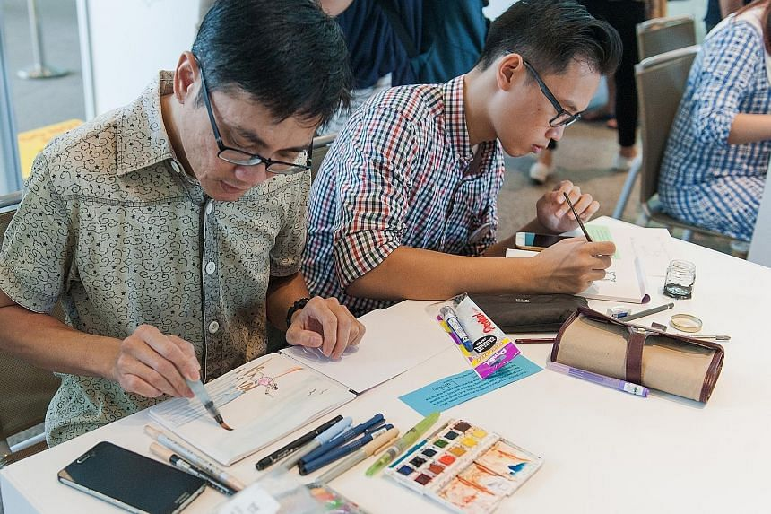 The Illustration Arts Fest showcases works by professional and amateur illustrators.