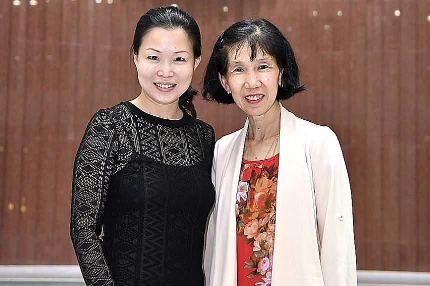 Among the donors recognised are Tampines GRC MP Cheng Li Hui (left) and Madam Jenny Yim, a mother of two who works as a bus attendant.