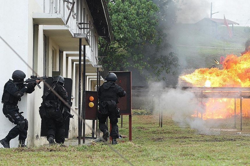 A counter-terrorism demonstration during the launch of the National Special Operations Force, based at the Sungai Besi military camp outside Kuala Lumpur. Malaysia has other special operations forces handling counter-terrorism, but the NSOF is the fi