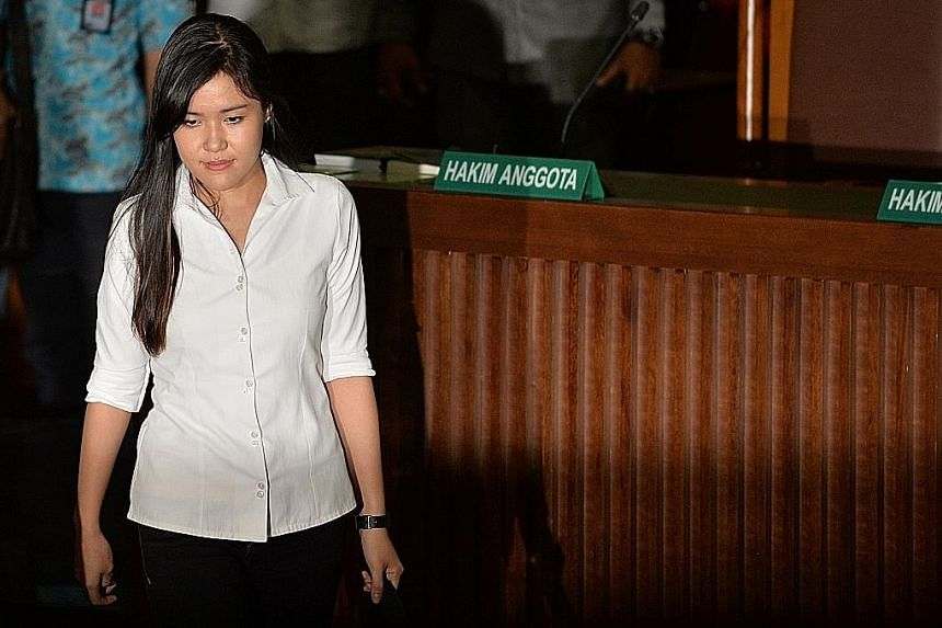 Wongso killed her friend after the latter advised her to break up with her boyfriend who was allegedly using drugs, the court heard.