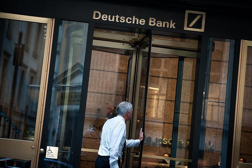 Deutsche Bank has been in turmoil since the middle of last month, when it said the US authorities were demanding up to US$14 billion (S$19.5 billion) to settle claims that it mis-sold US mortgage- backed securities before the financial crisis.