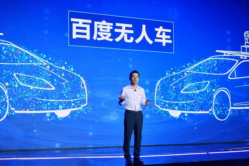 Robin Li, chairman and chief executive of Baidu Inc, speaks at a conference in Beijing, China, in September.