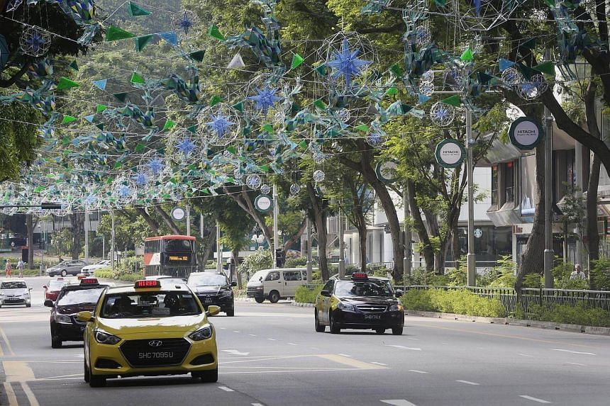 Early Christmas decorations have already been set-up along Orchard Road.